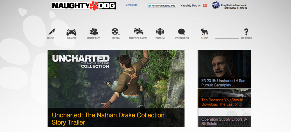 Naughty Dog Games-Top-Game-Developers